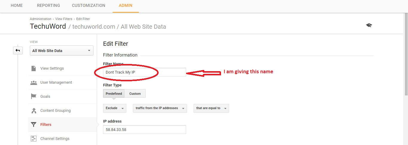 stop google analytics from tracking my visits
